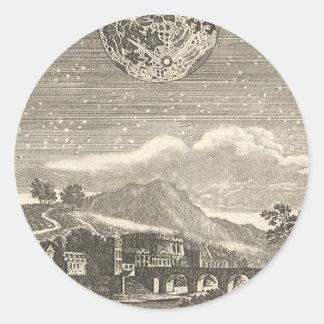 Antique Renaissance Moon by Allain Mallet Classic Round Sticker