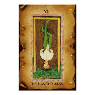 ANTIQUE RENAISSANCE TAROTS  12 / THE HANGED MAN POSTER