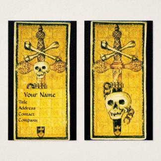 ANTIQUE RENAISSANCE TAROTS 13 DEATH / Pearl Paper Business Card