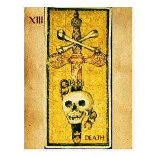 ANTIQUE RENAISSANCE TAROTS 13 / DEATH POSTCARD