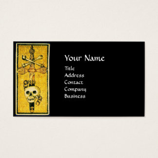 ANTIQUE RENAISSANCE TAROTS 13 DEATH / SKULL ,SWORD BUSINESS CARD