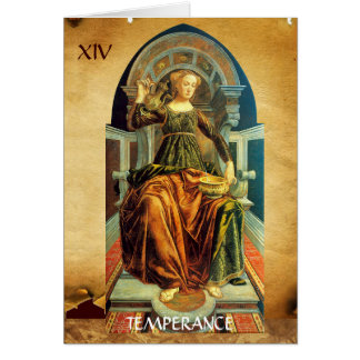ANTIQUE RENAISSANCE TAROTS 14 TEMPERANCE GREETING CARDS