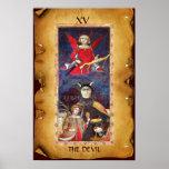 ANTIQUE RENAISSANCE TAROTS  15 / THE DEVIL PRINT