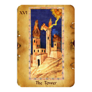 ANTIQUE RENAISSANCE TAROTS 16 / THE TOWER CARD