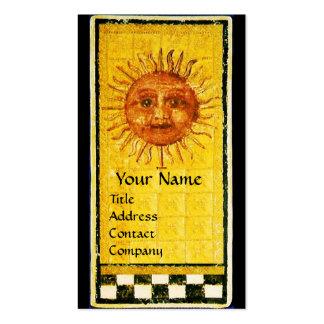 ANTIQUE RENAISSANCE TAROTS 19 / THE SUN BUSINESS CARD