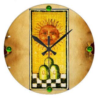 ANTIQUE RENAISSANCE TAROTS 19 /THE SUN LARGE CLOCK