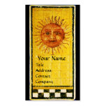 ANTIQUE RENAISSANCE TAROTS 19 /THE SUN Pearl Paper Double-Sided Standard Business Cards (Pack Of 100)