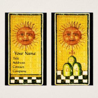ANTIQUE RENAISSANCE TAROTS 19 /THE SUN Pearl Paper Business Card