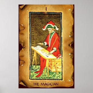 ANTIQUE RENAISSANCE TAROTS 1 / THE MAGICIAN POSTER