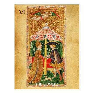 ANTIQUE RENAISSANCE TAROTS 5 / THE LOVERS POSTCARD