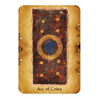 ANTIQUE RENAISSANCE TAROTS  / ACE OF COINS CARD