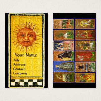 ANTIQUE RENAISSANCE TAROTS AND THE SUN BUSINESS CARD