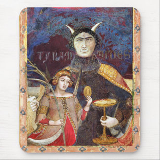 ANTIQUE RENAISSANCE TAROTS / DEVIL Conceit Detail Mouse Pad