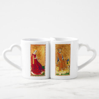 ANTIQUE RENAISSANCE TAROTS /KING AND QUEEN OF CUPS