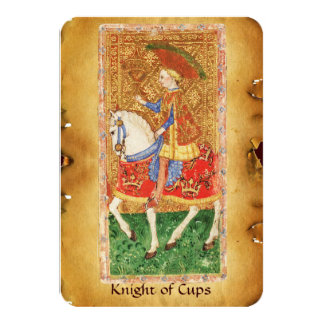 ANTIQUE RENAISSANCE TAROTS  / KNIGHT OF CUPS CARD