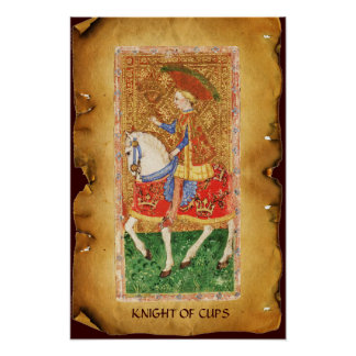 ANTIQUE RENAISSANCE TAROTS  / KNIGHT OF CUPS POSTER