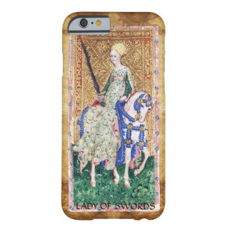 ANTIQUE RENAISSANCE TAROTS  / LADY OF SWORDS BARELY THERE iPhone 6 CASE