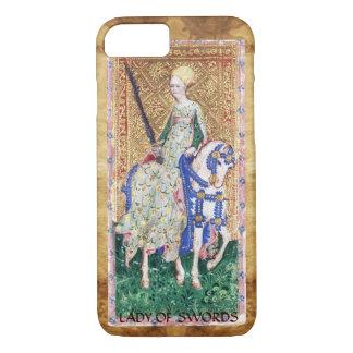 ANTIQUE RENAISSANCE TAROTS  / LADY OF SWORDS iPhone 7 CASE