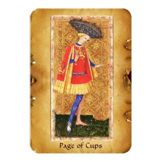 ANTIQUE RENAISSANCE TAROTS  / PAGE OF CUPS CARD
