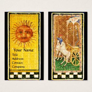 ANTIQUE RENAISSANCE TAROTS/ SUN AND THE CHAIROT BUSINESS CARD
