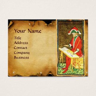 ANTIQUE RENAISSANCE TAROTS /THE MAGICiAN Parchment Business Card