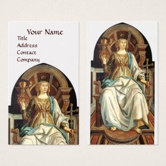 ANTIQUE RENAISSANCE TAROTS THE POPE Gold Business Card