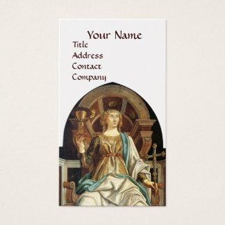 ANTIQUE RENAISSANCE TAROTS THE POPE  White Pearl Business Card