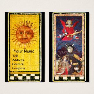 ANTIQUE RENAISSANCE TAROTS / THE SUN AND DEVIL BUSINESS CARD
