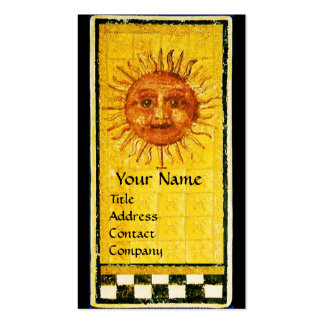 ANTIQUE RENAISSANCE TAROTS / THE SUN AND FORTITUDE BUSINESS CARD
