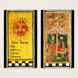 ANTIQUE RENAISSANCE TAROTS /THE SUN AND LOVERS BUSINESS CARD