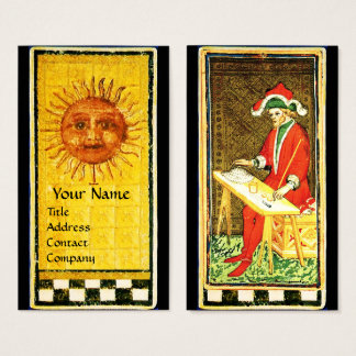 ANTIQUE RENAISSANCE TAROTS / THE SUN AND MAGICiAN Business Card