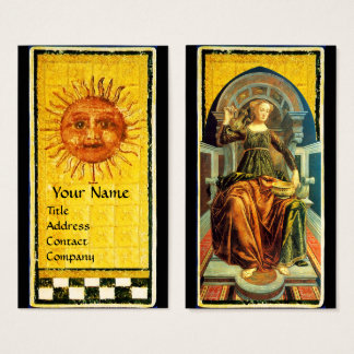 ANTIQUE RENAISSANCE TAROTS /THE SUN AND TEMPERANCE BUSINESS CARD