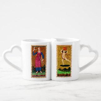 ANTIQUE RENAISSANCE TAROTS / THE SUN AND THE MOON COFFEE MUG SET
