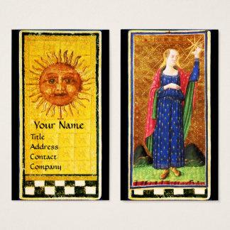 ANTIQUE RENAISSANCE TAROTS / THE SUN AND THE STAR BUSINESS CARD