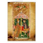 ANTIQUE RENAISSANCE TAROTS VI / THE LOVERS GREETING CARDS