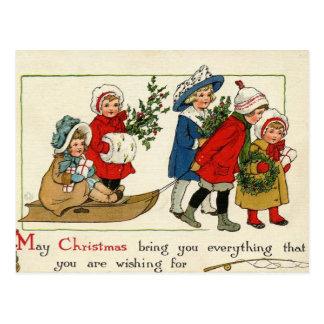 Antique Reproduction Christmas card Postcard