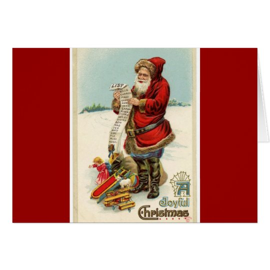 Antique Reproduction Christmas Greetings Card
