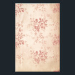 """Antique Reproduction Stationery<br><div class=""""desc"""">Lovely reproduction of antique paper. Graphics of a a rose colored floral pattern over the paper adds a Victorian effect to this aged paper.  Lovely everyday stationery or for special occasions.  Makes a nice gift too.</div>"""