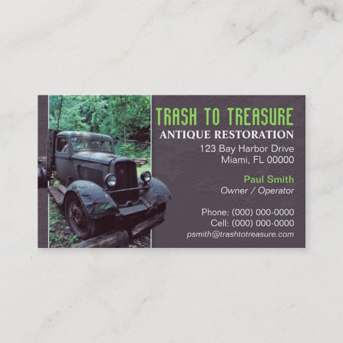 Antique Restoration Business Card