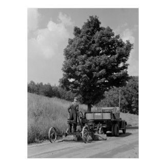 Antique Road Grader, 1937 Poster