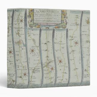 Antique Road Map Vinyl Binders
