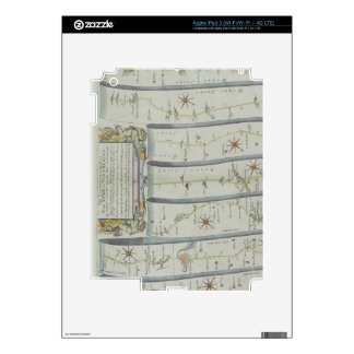 Antique Road Map Decals For iPad 3