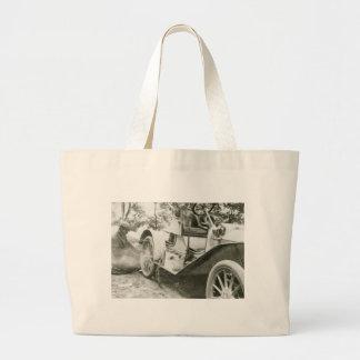 Antique Roadster, 1911 Large Tote Bag