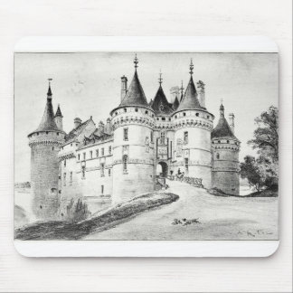 Antique Robida France French Castle Mouse Pad