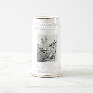Antique Robida France French Landscape Beer Stein