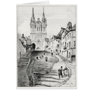 Antique Robida France French Landscape Card