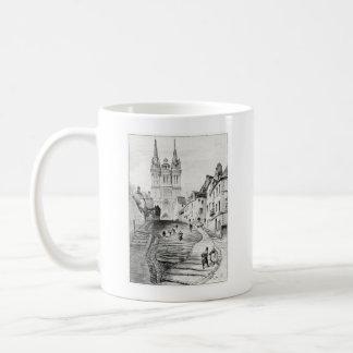 Antique Robida France French Landscape Classic White Coffee Mug