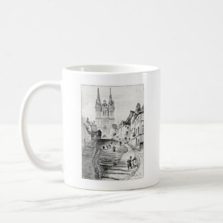 Antique Robida France French Landscape Coffee Mug