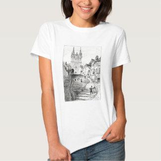 Antique Robida France French Landscape T-Shirt