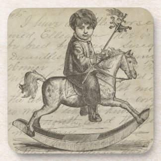 Antique Rocking Horse Coaster Set